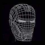 3D Светильник Маска Железного человека 13-5, фото 2