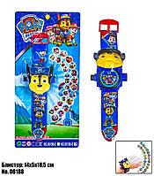 Детские наручные электронные часы Projector Watch Щенячий Патруль Гонщик Чейз с проектором 06188 - 24