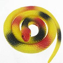 Резиновая змея 70см желтая 1296295411