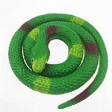 Резиновая змея 70см зеленая 1296295404