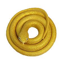 Резиновая змея 70см золотая 1296295410