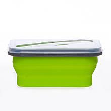 Ланчбокс не герметичный силиконовый складной (зелёный) (md14156) 979817577