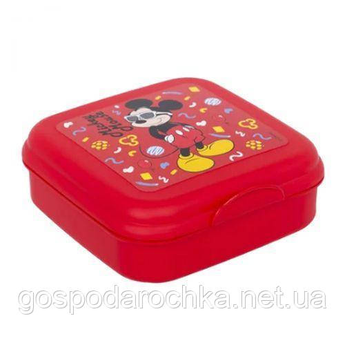 "Ланч бокс ""Міккі Маус"" Herevin Disney Mickey Mouse 2 сендвіч бокс (15*15*5см) 161456-014"