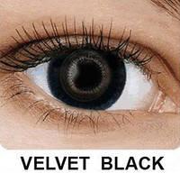 Цветные контактные линзы Fusion на 3 месяца, кольорові контактні лінзи, (2шт), OkVision Velvet Black