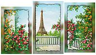 Схема для вышивки бисером на холсте на подрамнике Париж (модульный триптих)