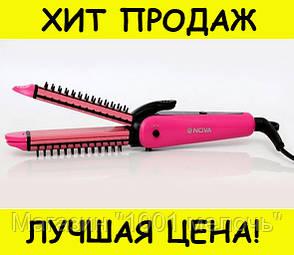 Многофункциональный Утюжок Плойка Щипцы для Волос Nova 3 в 1 Hair Care Stylers Стайлер- Новинка, фото 2