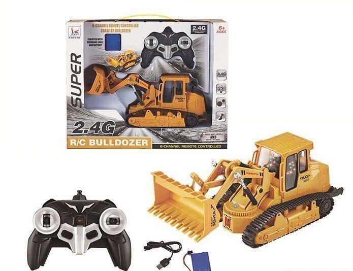 """Трактор SUPER Bulldozer """"Бульдозер""""на радиоуправлении в коробке 66-42"""