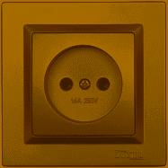Розетка одинарная Luxel JAZZ (9601) бронзовая
