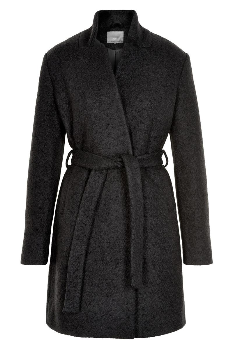 Пальто Ichi 20106684 L Темно-серый