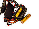 Ліхтар налобний Police BL 2199 1 режим Orange/Black, фото 3