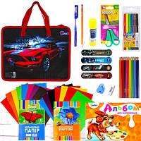 """Подарочный набор канцтоваров для мальчика (папка """"Mustang"""" S2007)"""