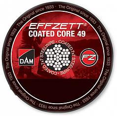 Поводочный стальной материал 7х7 DAM Effzet Coated Core 49 Steeltrace 10 м 11 кг Brown