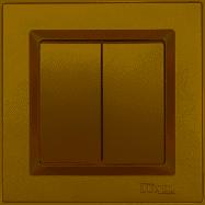 Выключатель двойной Luxel JAZZ (9603) бронзовый