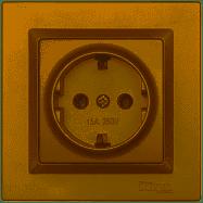 Розетка с заземлением Luxel JAZZ (9604) бронзовая