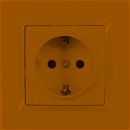 Розетка с заземлением Luxel JAZZ (9304) кремовая