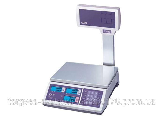 Весы торговые CAS ER-JR CBU (со стойкой)