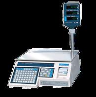 Весы для печати на этикетке CAS LP-15R версия 1.6 с RS-232 (со стойкой)