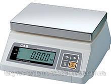 Весы электронные настольные фасовачные для простого взвешивания CAS SW (з нержавеющей платформой)