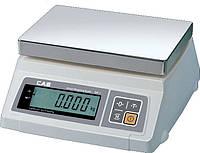 Весы электронные настольные фасовочные с двойным индикатором CAS SW-D (с нержавеющей платформой)