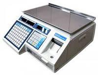 Весы для печати на этикетке CAS LP-15 версия 1.6 с RS-232 (без стойки)