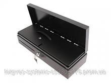 Вертикальный встраиваемый денежный  ящик HPC-460 FT. 6V/12V/24V. Съемная кассета для инкассации