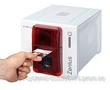 Настольний принтер для друку пластикових карт Evolis Zenius (USB). Односторонный друк