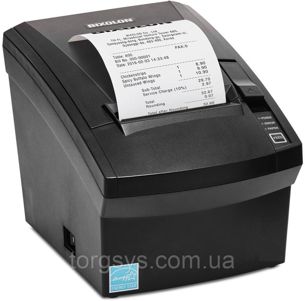 Принтер для печати чеков Bixolon SRP-330II (USB + RS-232 + Ethernet)