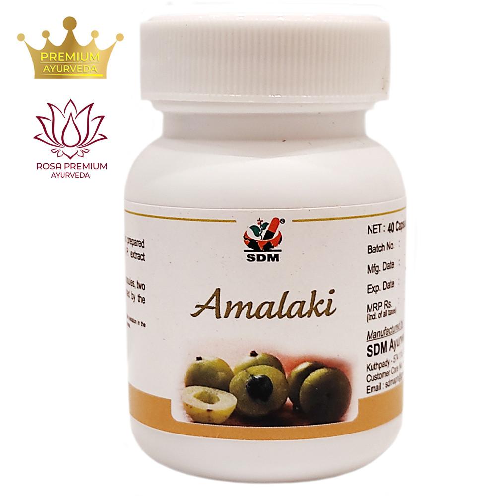 Амалаки капсулы (Amalaki Capsules, SDM), 40 капсул - Аюрведа премиум качества