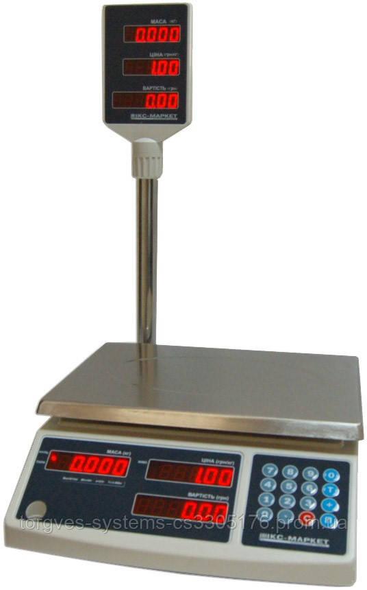 Весы торговые ICS 6NT со стойкой 6 кг