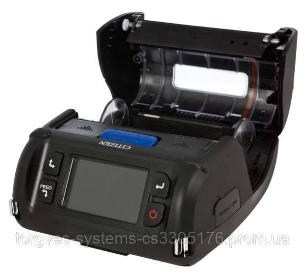 Мобильный принтер чеков-этикеток Citizen CMP-40L (Bluetooth (iOS/MFi), Serial/USB, CPCL/ESC)