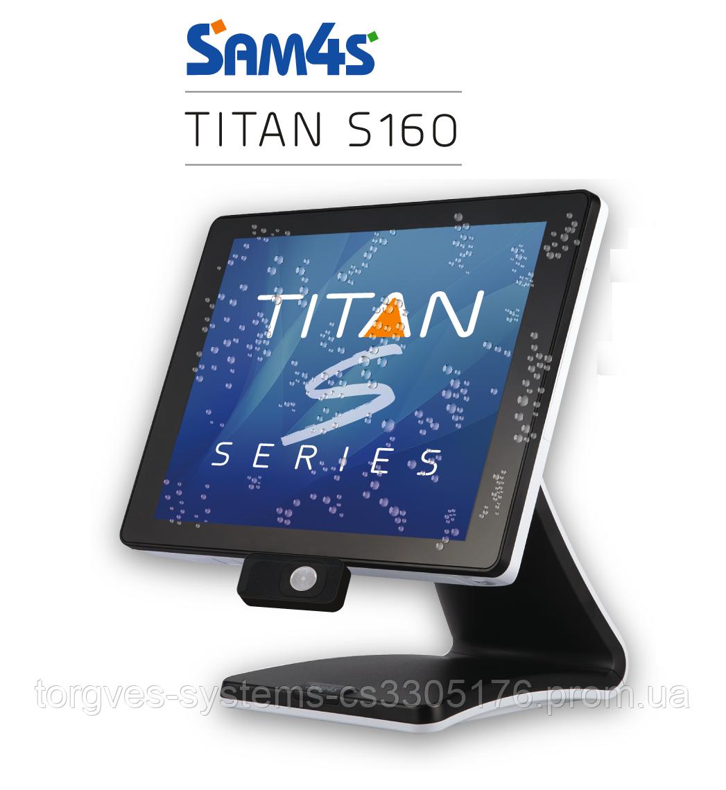 Сенсорный POS-терминал SAM4S Titan-S 160 Black (ридер+стенд)
