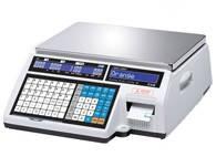 Весы для печати на этикетке CAS CL 5000J-IB (без стойки)