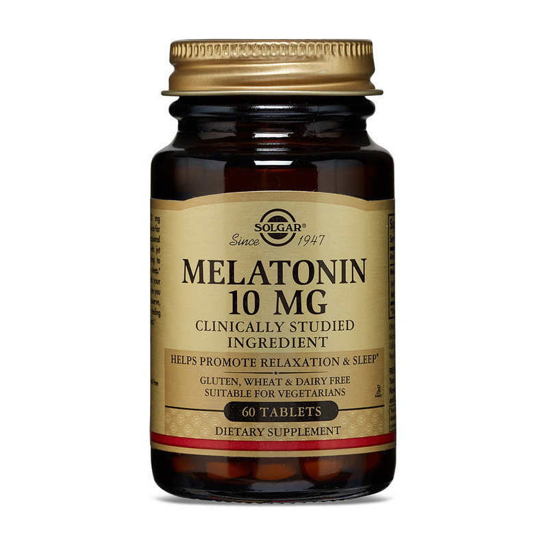 Мелатонин для сна Солгар / Solgar Melatonin 10 mg 60 tab