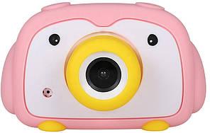 Детская цифровая фото-видео камера DUO Camera UL-2033, 1080P, 12MP, розовая