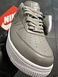 Мужские кроссовки  Nike Air Force 1 Low Grey (копия), фото 2