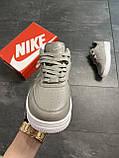 Мужские кроссовки  Nike Air Force 1 Low Grey (копия), фото 4