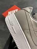Мужские кроссовки  Nike Air Force 1 Low Grey (копия), фото 5