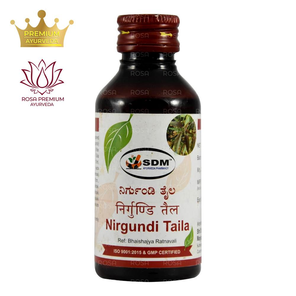 Ниргунди тайла (Nirgundi Taila, SDM) 100 мл - масло при болях в суставах, нормализует женский гормональный фон