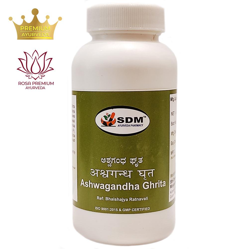 Ашвагандха грита (Ashwagandha Ghrita, SDM), 200 грамм - натуральный энергетический тоник для организма
