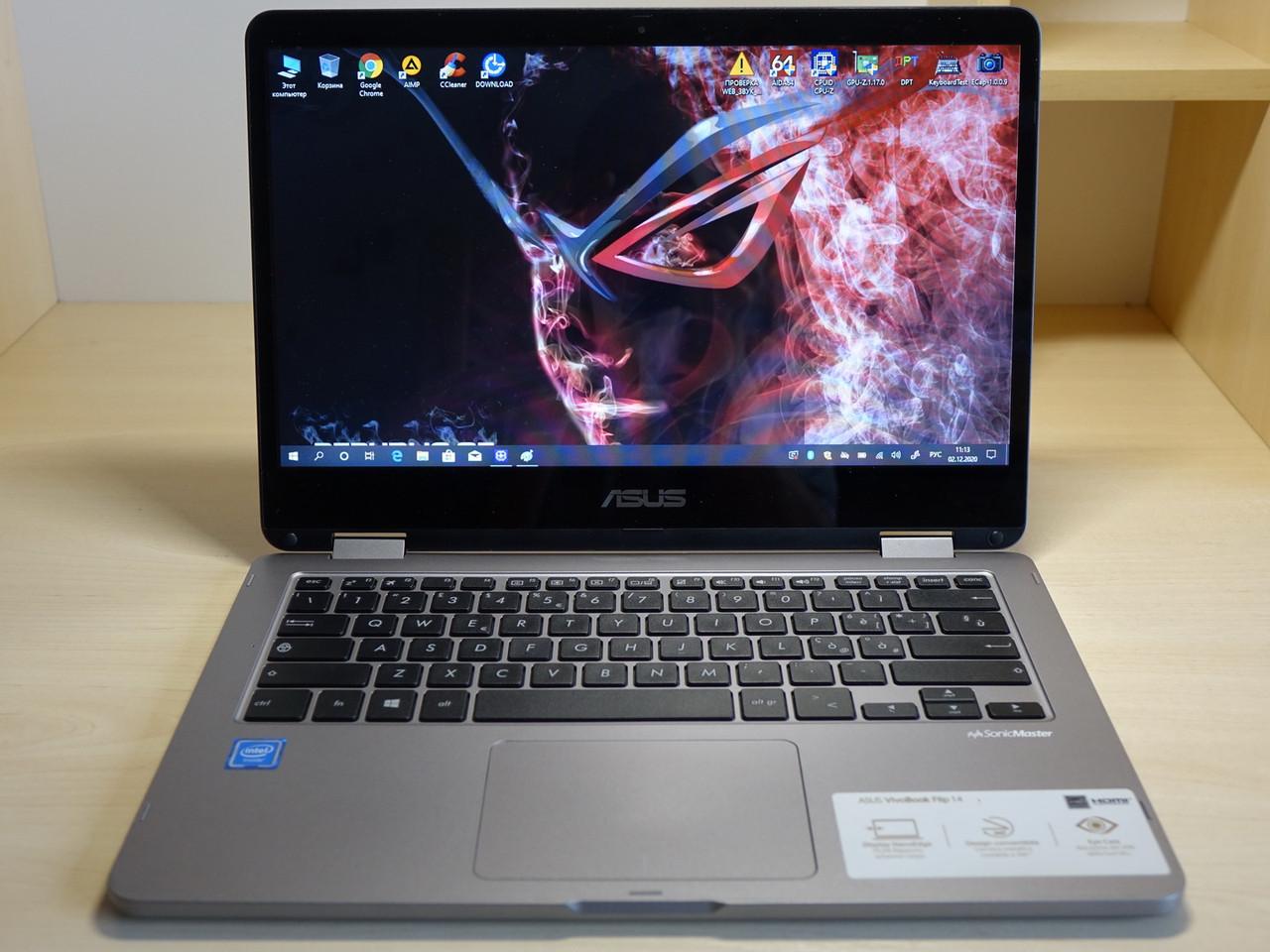 """Сенсорный Ноутбук ASUS FLIP TP401N 14"""" Intel Celeron N3350/4gb/60gb/HD500 Планшет Трансформер 2 в 1"""