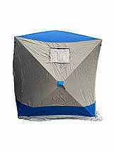 Палатка для зимней рыбалки Daster КУБ 180x180x205 см серо-синяя, фото 3