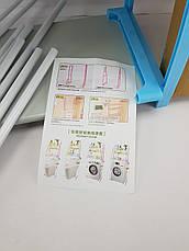 Полиця-стелаж підлоговий над пральною машиною (БІЛО-СИНЯ), фото 3