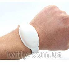 Универсальный силиконовый браслет для антисептика (БЕЛЫЙ), фото 2