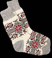 Шкарпетки жіночі з овечої шерсті, орнамент