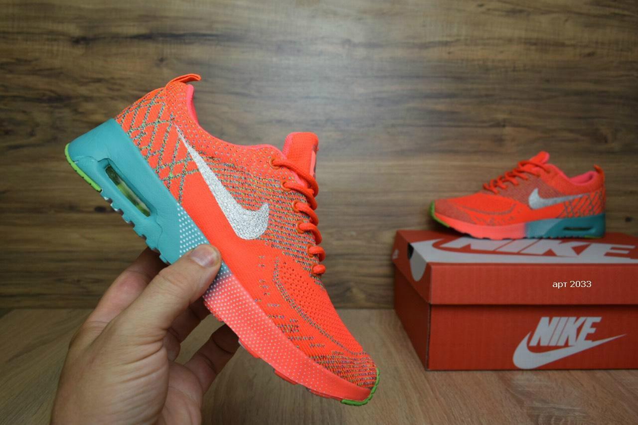 Кросівки розпродаж АКЦІЯ останні розміри Nike Air Max Thea помаранчеві 37й(23,5 см) копія люкс