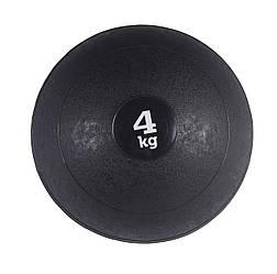 Слэмбол 4 кг (медицинский мяч) для кроссфита SportVida Slam Ball SV-HK0058 Black для дома и спортзала