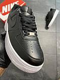 Мужские кроссовки  Nike Air Force 1 Low Black (копия), фото 2
