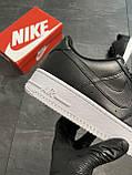 Мужские кроссовки  Nike Air Force 1 Low Black (копия), фото 3