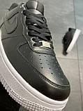 Мужские кроссовки  Nike Air Force 1 Low Black (копия), фото 4