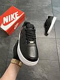 Мужские кроссовки  Nike Air Force 1 Low Black (копия), фото 6
